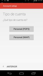 Seleccione IMAP