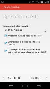 paso 9 configuración gmail movil